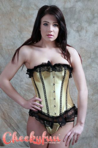 Corset and Thong  (GK) - Yellow